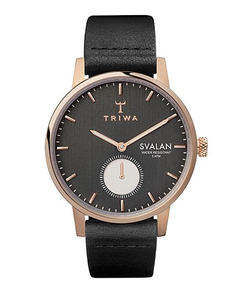 TRIWA SVALAN NOIR BLACK CLASSIC SUPER SLIM(SVST101-SS010114 ブラック×ローズゴールド)