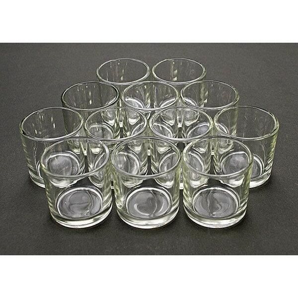 キャンドル用ガラスコップ 144個セット【ジェルキャンドル ガラスコップ キャンドルグラス】