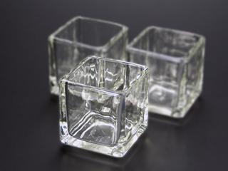キャンドル用グラス キューブS 120個セット ジェルキャンドル ガラスコップ キャンドルグラス