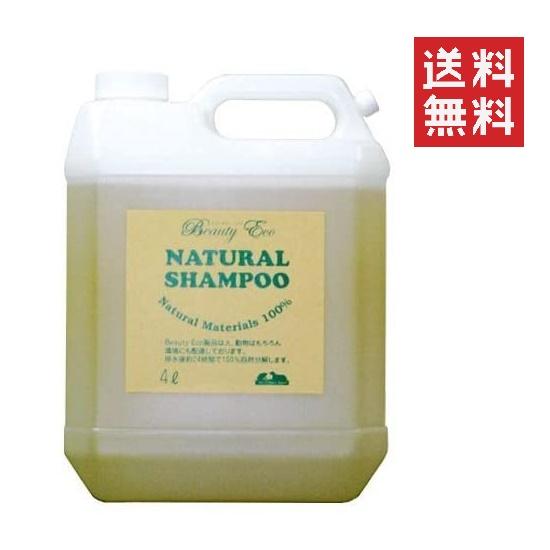 ビューティーエコ BEAUTY ECO 自然のシャンプー 詰替用 4L 大容量 業務用 レフィル 天然植物性 泡立ち