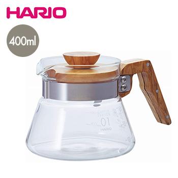 入荷後出荷 納期2日~5日 中古 日 祝除く 送料無料 コーヒーサーバー400オリーブウッド ドリップ 贈呈 hario デカンタ ハリオ 珈琲 コーヒーポット LF557B07b000