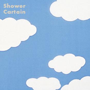 バスルームの雰囲気を気軽に替えられます!可愛い柄、POPな柄など種類が豊富なシャワーカーテン! シャワーカーテン C87 105x180cm BL 【カーテン・バスカーテン・風呂・バス・防カビ】