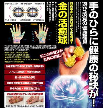 金の活癒球◇きんのかつゆきゅう◇遊び感覚の健康器具