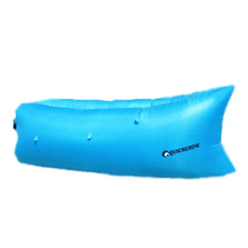 クイックグロウ インフレタブルベッド QG-02 オーシャンブルークッション QUICK GROW インフレタブルベッド QG-02オーシャンブルー クイックグロウ エアーマット 海水浴 簡易ベット 海 エアーソファ アウトドア