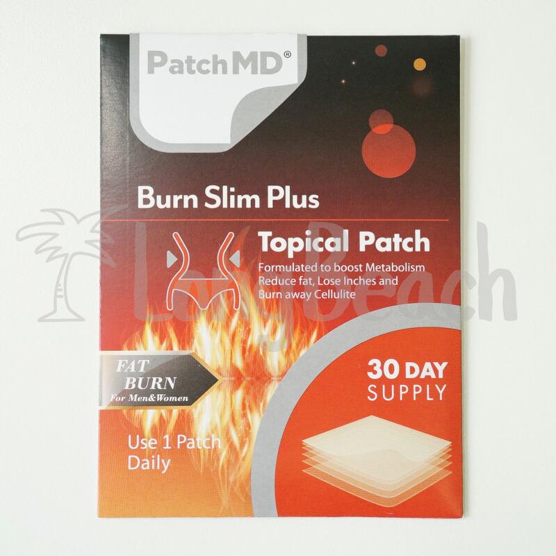 ·正規品·【ハワイ直輸入】パッチMD 肌に直接貼るパッチ型ボディケア からだサポートサプリメント Burn Slim Plus Topical Patch バーン スリム プラス パッチ 脂肪の燃焼を助ける成分 L-カルニチン配合 攻めのダイエット【脂肪】【燃焼】【Patch MD】【パッチMD】