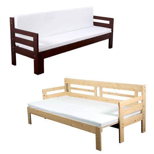 *【送料無料(一部地域除く)!!】充英アート 天然木 すのこソファベッド(マットレス付き) SFB-200M (寝具・ベッドフレーム・ベッド台・睡眠)