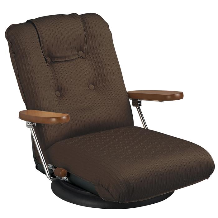 *【送料無料(一部地域除く)!!】宮武製作所 ポンプ肘式回転座椅子 YS-P1375 (家具・座イス・チェアー・高級感・リクライニング・プレミアム)