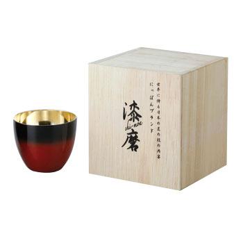 ASAHI[アサヒ] 漆磨 2重構造ぐい呑み 赤彩 58ml SCW-GK602 (銅製品・お酒・ビール・ビアタンブラー・ビアカップ・日本酒・焼酎・ギフト・お祝い・贈り物・カップ・グラス・コップ・杯・贈答品)