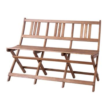 *【送料無料(一部地域除く)!!】東谷 バイロン 折りたたみ3Pベンチ NX-905 (家具・椅子/イス/いす・チェアー・アカシア・リビング・インテリア)