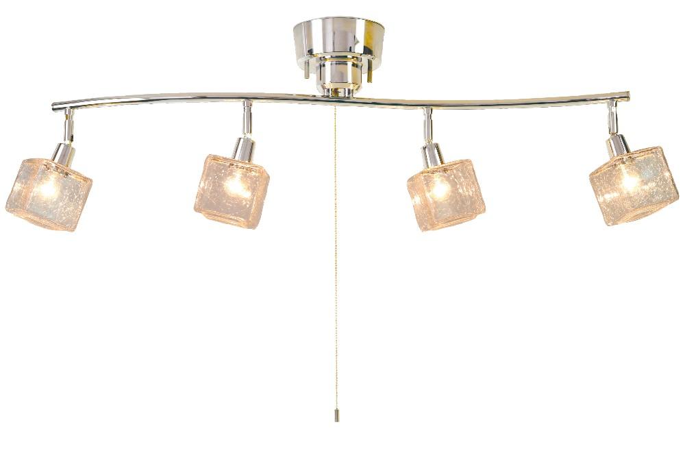 *【送料無料(一部地域除く)!!】kishima[キシマ] CRACK CUBE 4灯シーリングライト(クリア)CC-40287(照明機器・アンティーク風照明家具・インテリア・ライト・照明・天井照明)