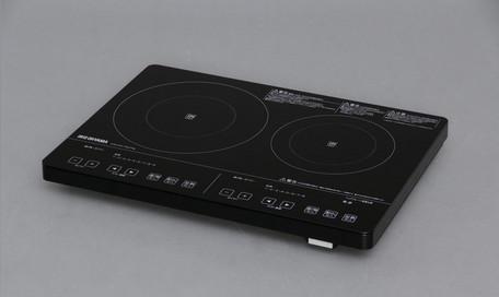 *【送料無料(一部地域除く)!!】アイリスオーヤマ 2口IHクッキングヒーター 200Vタイプ IHC-S225-B (キッチン用品・コンロ・IH・調理・キッチン家電)
