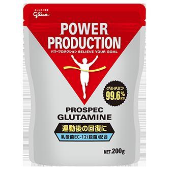 *【送料無料(一部地域除く)!!】Glico[グリコ] 箱売り パワープロダクション アミノ酸プロスペック グルタミンパウダー 200g×6個 (トレーニング・運動・フィットネス・筋肉・準必須アミノ酸・アミノ酸パウダー・筋トレ・バルクアップ)