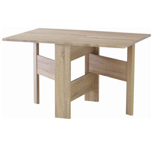 *【送料無料(一部地域除く)!!】東谷 フォールディングダイニングテーブル FIK-103NA ※代引不可商品(家具・椅子/いす/イス・チェアー・ダイニングチェアー)