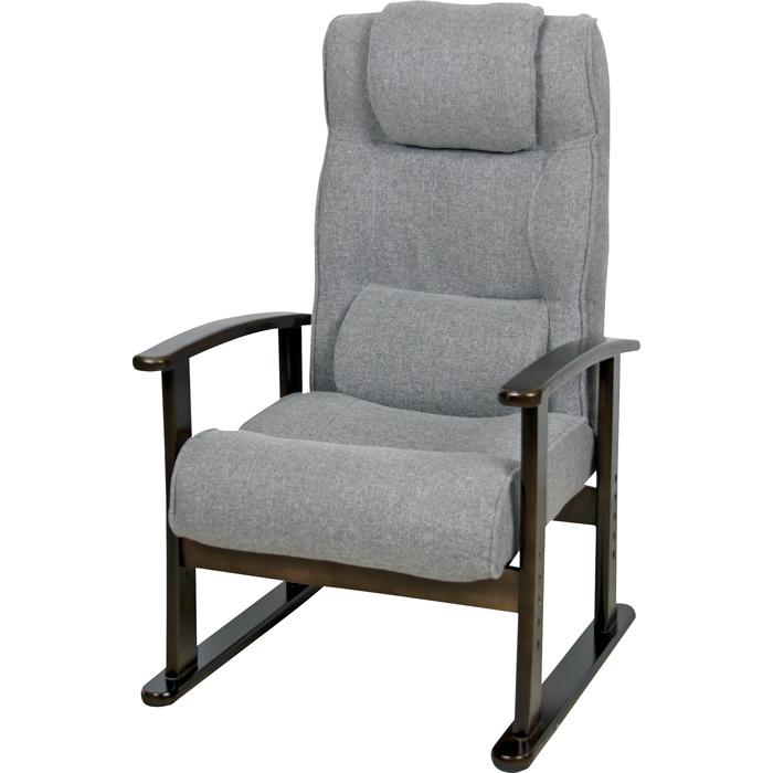 *【送料無料(一部地域除く)!!】東谷 高座椅子 RKC-38GY ※代引不可商品(家具・椅子/いす/イス・チェアー・ダイニングチェアー)