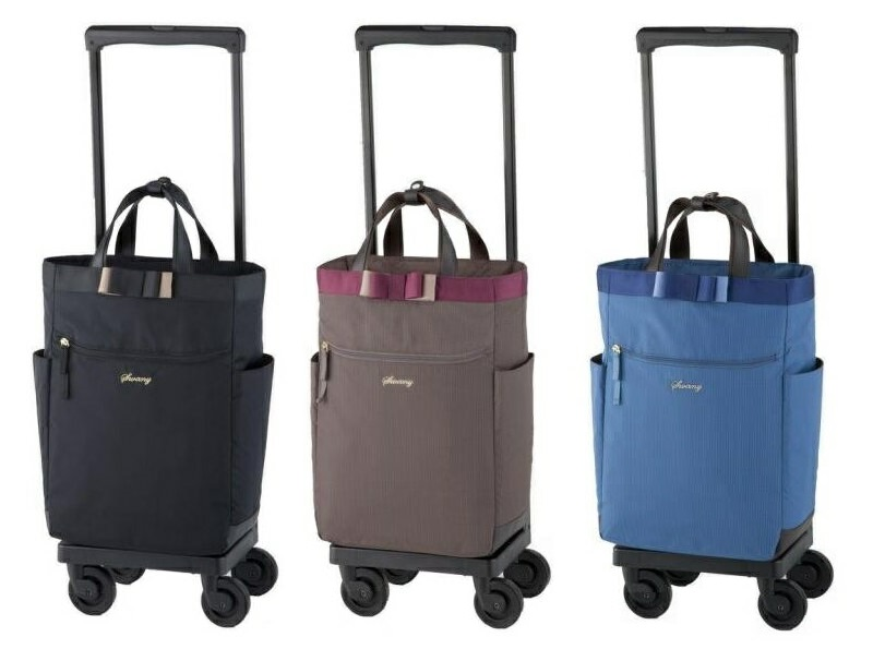 【送料無料(一部地域除く)!!】SWANY[スワニー] D-330 ルバンド 4輪ストッパー付 L21 (キャリーバッグ・ウォーキングバッグ・買い物バッグ・カート・支えるバッグ・バッグ・買い物・日常・旅行)