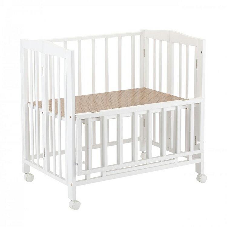 *【送料無料(一部地域除く)!!】KATOJIミニベッド折り畳み ホワイト(ベビーベッド・キッズベッド・寝具・子供用寝具・幼児・赤ちゃん・ギフト・プレゼント・お祝い・ホワイト)