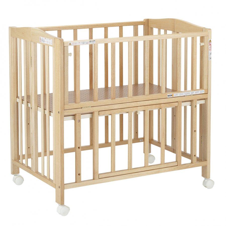 *【送料無料(一部地域除く)!!】KATOJIミニベッド折り畳み ナチュラル(ベビーベッド・キッズベッド・寝具・子供用寝具・幼児・赤ちゃん・ギフト・プレゼント・お祝い・ホワイト)