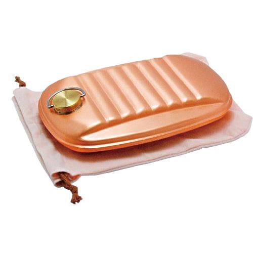 【送料無料(一部地域除く)!!】新光堂湯たんぽ 袋付(大) S-9395L(銅製品・調理器具・ギフト・お祝い・贈り物・贈答品)