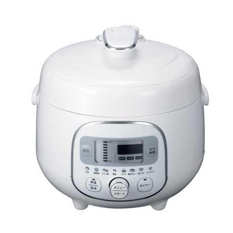 *【送料無料(一部地域除く)!!】E-BALANCE[イーバランス] ROOMMATE 電気圧力調理鍋 HR-P07W (キッチン家電・コンパクト・調理家電・安全)