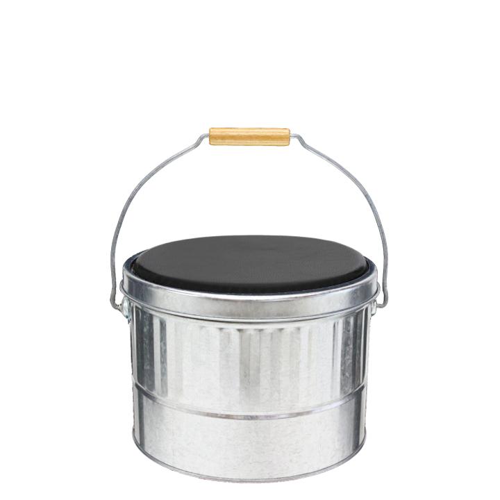 送料無料 一部地域除く 渡辺金属工業OBAKETSU オバケツ クッション付きスツール缶 Sサイズ AKPS いす オンラインショッピング 椅子 イス スツール 収納 バケツ シルバー クリアランスsale 期間限定