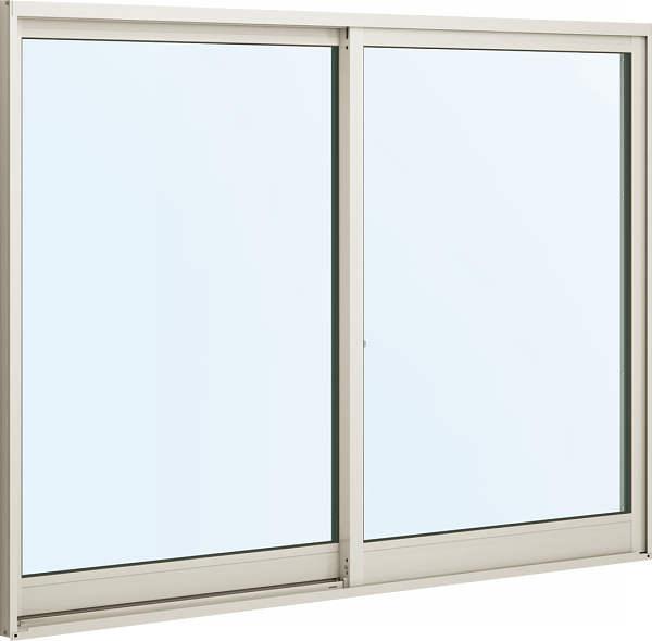 アルミサッシ 半外付 2枚建 引違窓≪単板仕様≫幅1900ミリ高1570ミリ