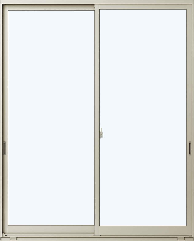 アルミサッシ 半外付 2枚建 引違窓≪単板仕様≫幅1845ミリ高2030ミリ