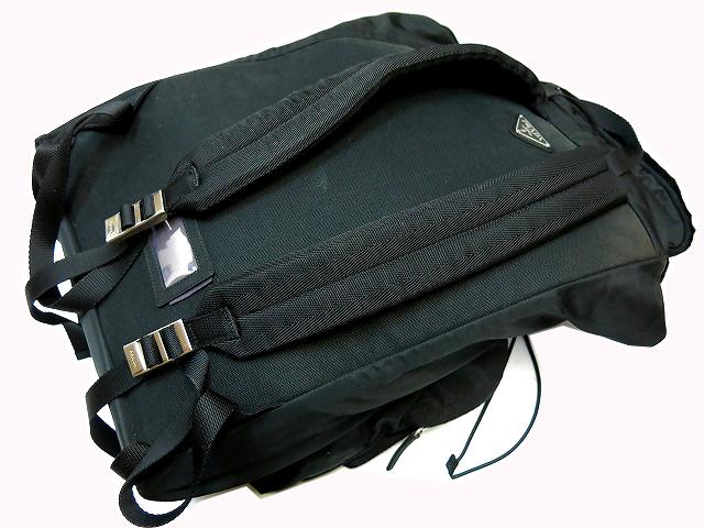 普拉达 (prada) 普拉达 (prada) 大背包 V136 袋男装黑色袋男子 0854年黑色罕见