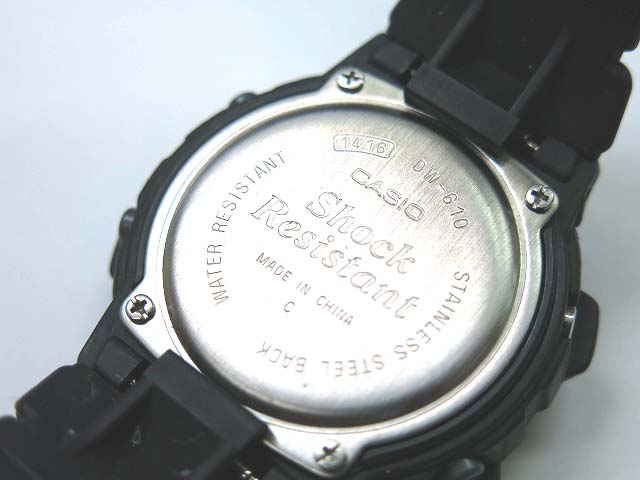 G-shock 6600 dw-610 quartz watch vintage 0625 CASIO Mens boys