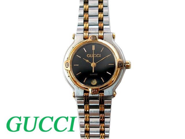 Gucci GUCCI 9000L women's quartz watch black dial 0716