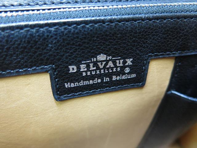 美品DELVAUX戴尔波特布里永手提包黑新型0656