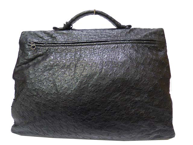 Bottega Veneta ostrich business bag black mens 0392 BOTTEGA VENETA black No. 122139 Briefcase