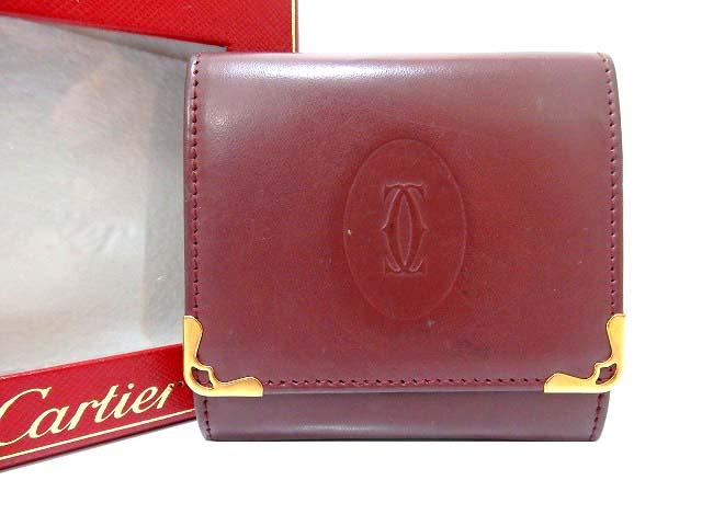 美品 Cartier カルティエ マスト レザー コインケース 財布 0030【中古】