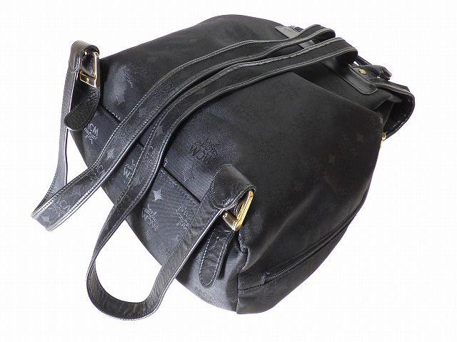 薄荷 MCM MCM 喽尼龙背包袋黑色袋 0193 黑色复古