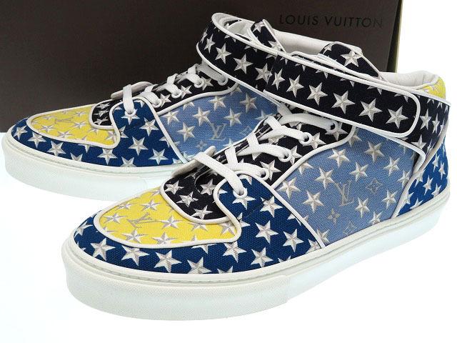 74a974768aa6 Unused Louis Vuitton monogram star men sneakers size 8 shoes 0231LOUIS  VUITTON-limited