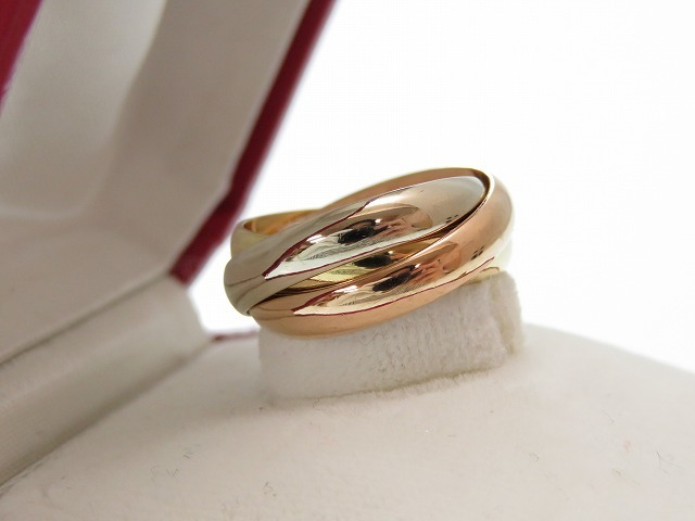 Polishing finished like-new Cartier trinity three ring K18YG K18PG K18WG pink gold white gold yellow gold 0337Cartier