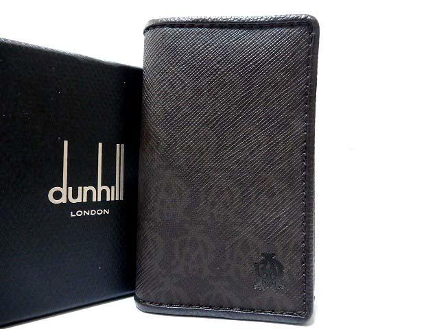 未使用 ダンヒル レザー 6連キーケース キーリング 茶 0241【中古】dunhill