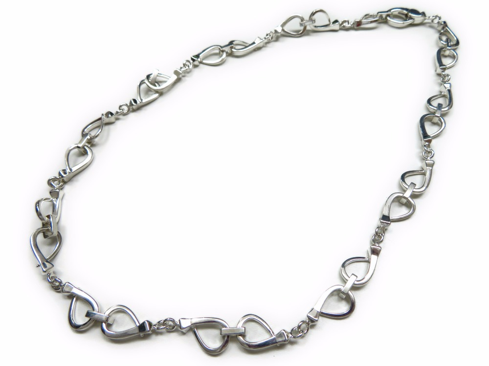 23a048746 925 chains of beautiful article Gucci choker necklace silver 0176 lady's  GUCCI ...