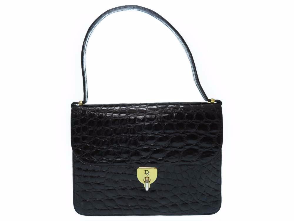 クリスチャンディオール ハンドバッグ クロコダイル レディース バッグ 0166 【中古】 Christian Dior