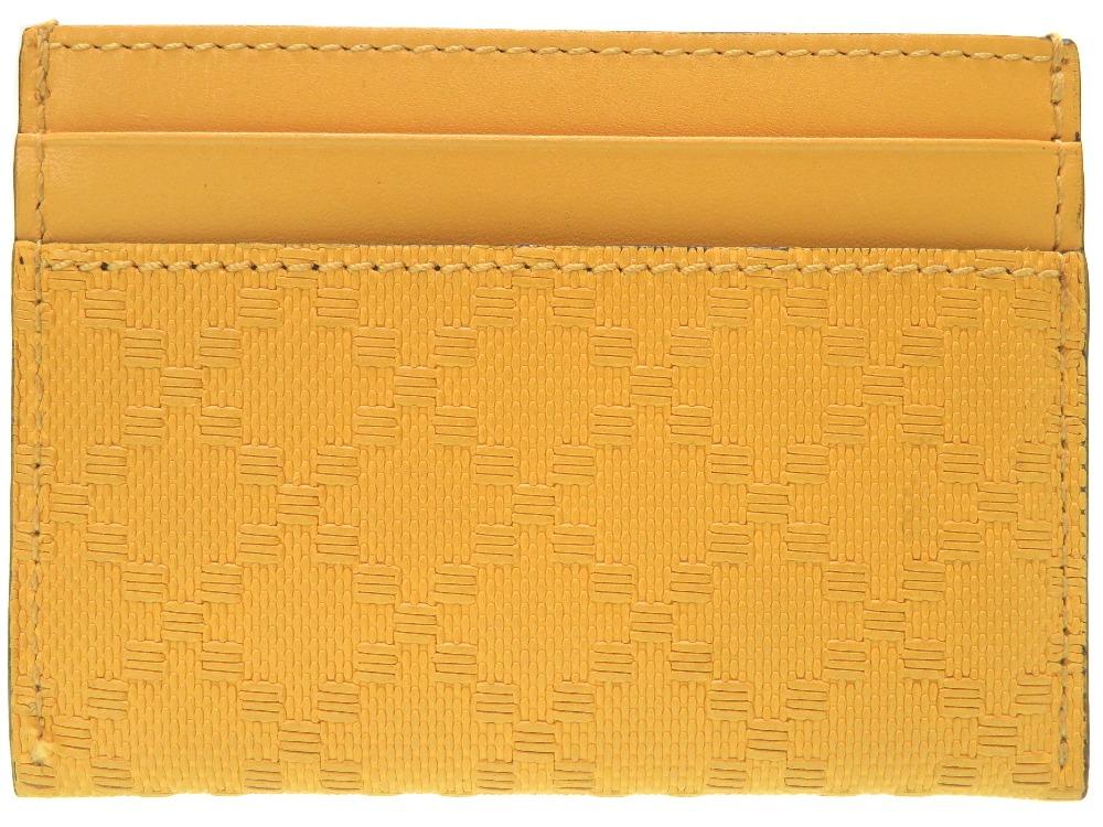 美品 グッチ ディアマンテ 322190-7011 カードケース カーフ イエロー ケース 小物 0376 【中古】 GUCCI