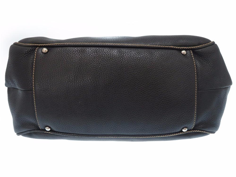 香奈爾小寬底旅行皮包邊緣皮革黑色手提包包0268 CHANEL