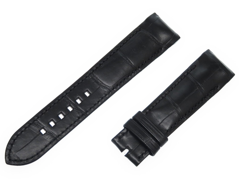 未使用 ハリーウィンストン 腕時計用ベルト ミッドナイト マット クロコダイル EDF M 腕時計 クロコ 0157【中古】HARRY WINSTON メンズ
