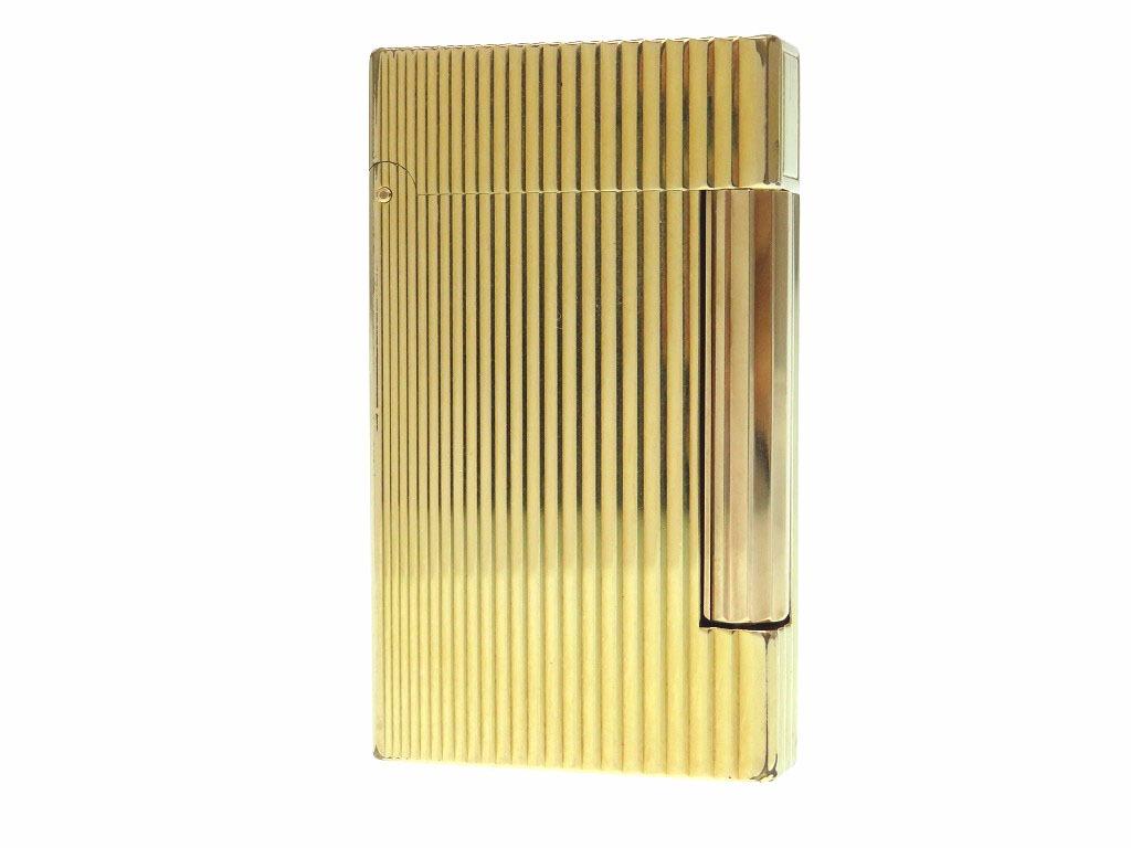 デュポン ラインD ガスライター ライター 着火確認済み ゴールド 0515【中古】Dupont