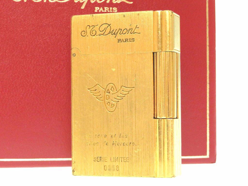 デュポン SERIE LIMITEE 限定 ギャッツビー ガスライター ゴールド 着火確認済み 0525【中古】Dupont