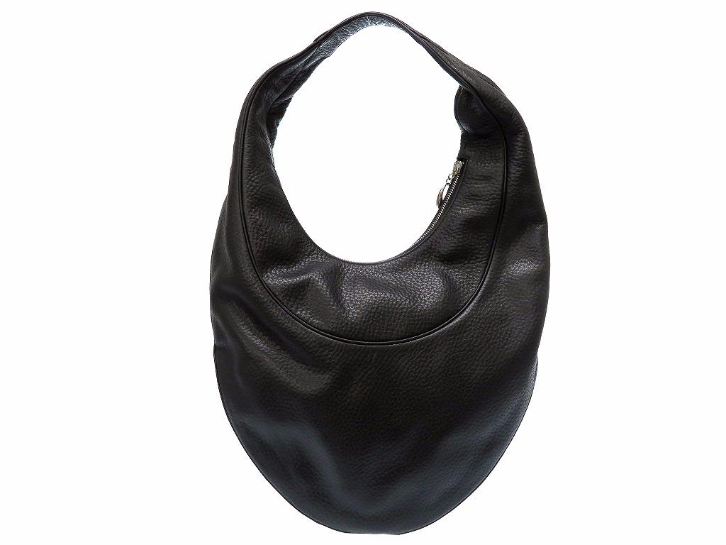美品 ブルガリ レザー ハンド トート バッグ 黒 鞄 0226【中古】BVLGARI