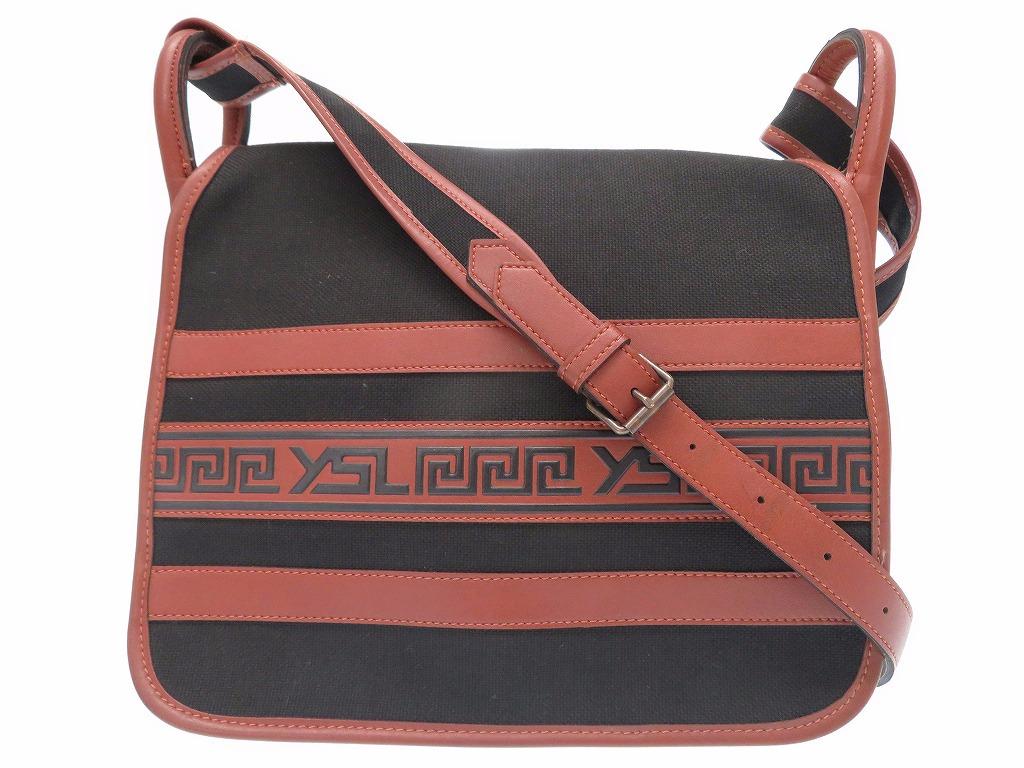 Beautiful article Yves Saint-Laurent canvas shoulder bag Ysl vintage bag  black 0611Yves Saint Laurent a9600a644a1fc