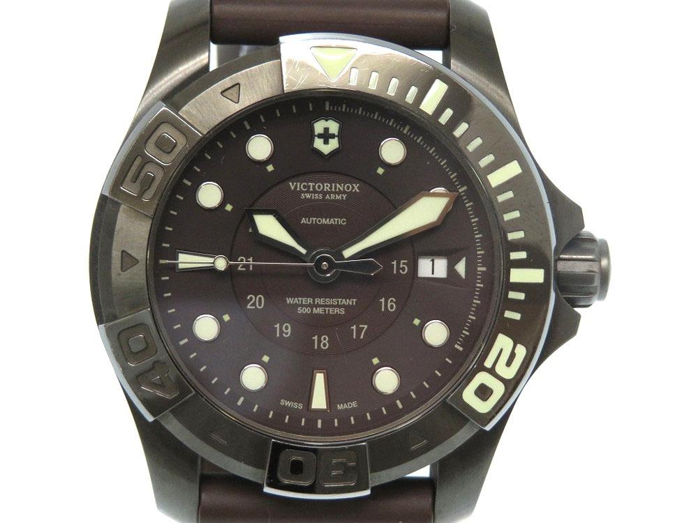 美品 ヴィクトリノックス ダイブマスター 500 スイスアーミー 自動巻き 腕時計 241562 オートマチック 0046【中古】VICTORINOX メンズ