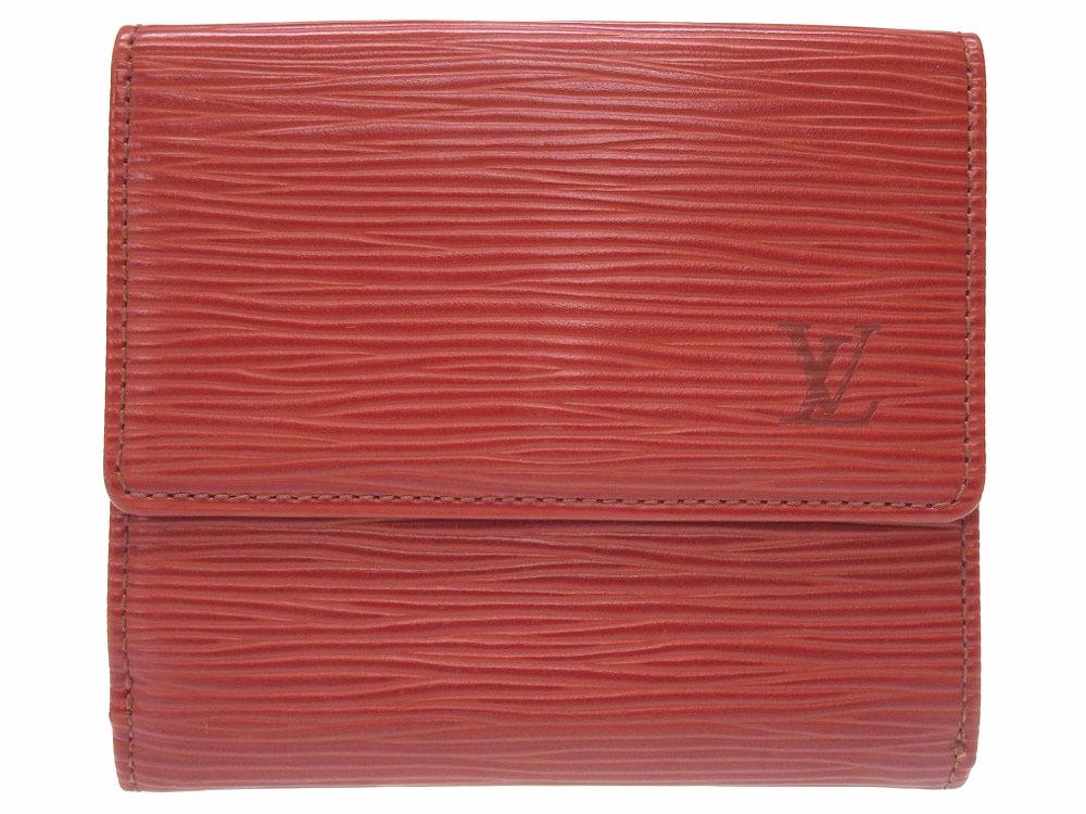 外装美品 ルイヴィトン エピ ポルトモネ ビエ カルトクレディ M63483 二つ折り財布 Wホック ケニアブラウン 財布 0055 【中古】 LOUIS VUITTON