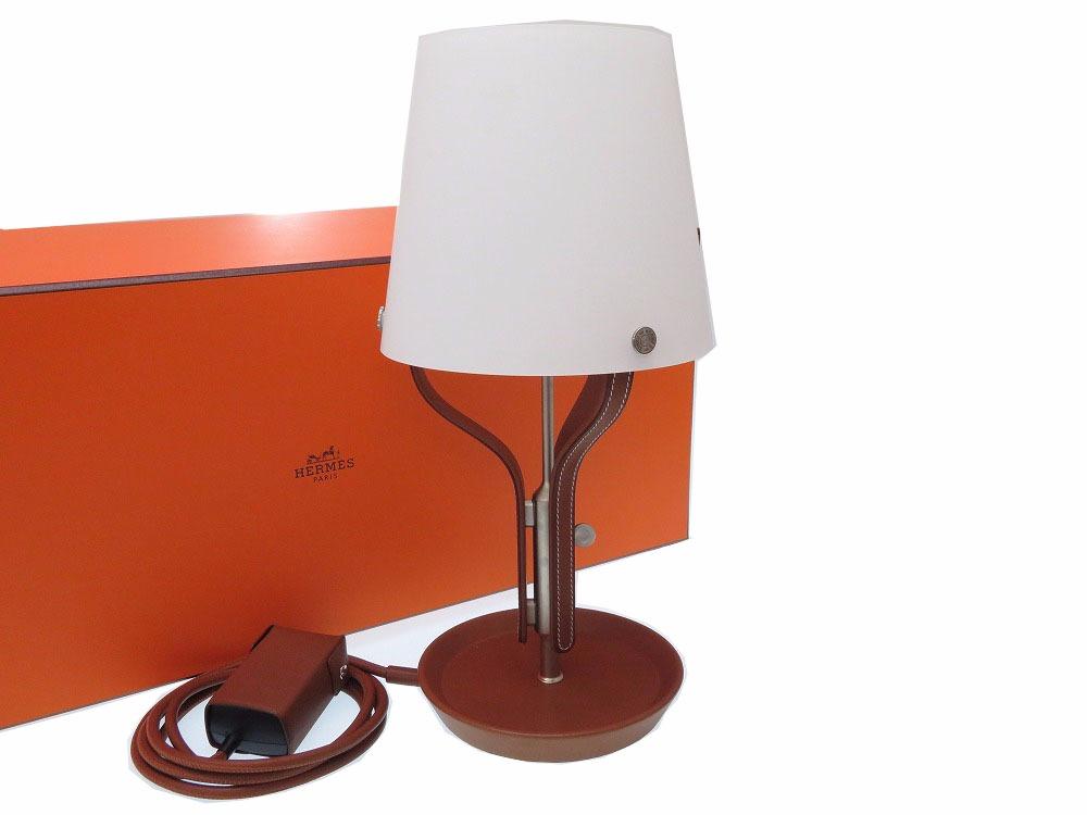 未使用 エルメス アン リュミエール テーブルランプ ランプ インテリア レザー フォーブ 0163 【中古】 HERMES