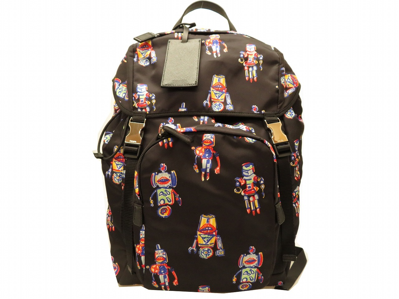 5ace71c53100 ... official store unused prada v135 nylon rucksack bag robot men black bag  0052prada 18657 37638