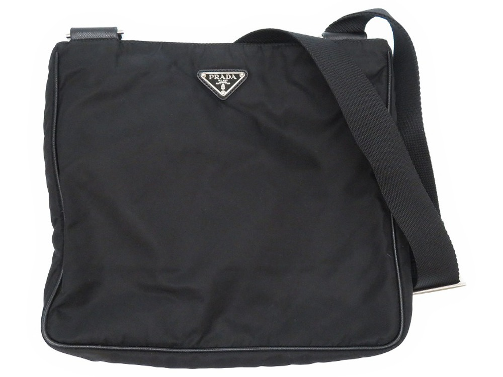 プラダ ナイロン ショルダーバッグ VA0338 ブラック 黒 0179【中古】PRADA メンズ